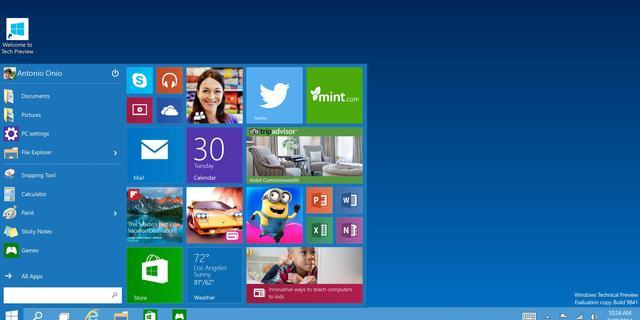 Nieuwe Microsoft-browser en Windows 10 op afbeeldingen te zien