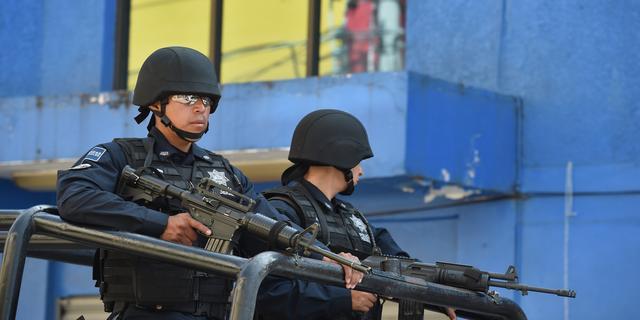 Gewonde bij schietpartij politie Mexico
