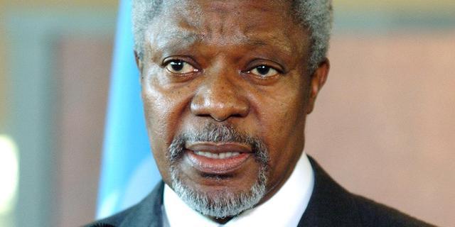 Kofi Annan komt dit najaar naar Amsterdam