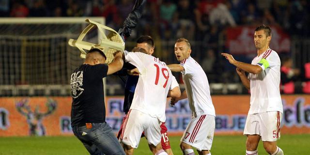 'Spelers Albanië ook belaagd door Servisch veiligheidspersoneel'