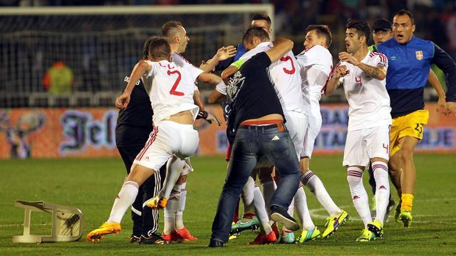 Zowel Servië als Albanië moet vrezen voor straf van UEFA
