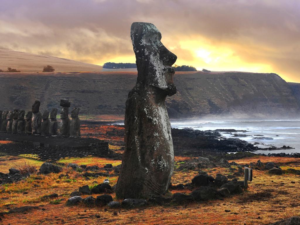 Iconische beelden op Paaseiland veranderen door erosie van vorm