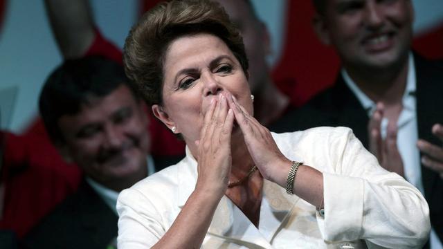 Zittende president Rousseff wint verkiezingen Brazilië