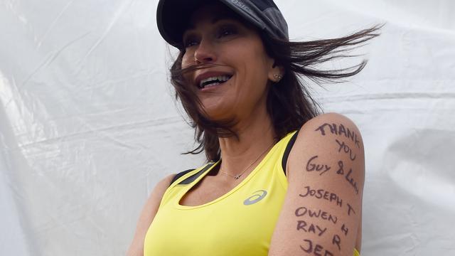 Desperate Housewives-actrice Teri Hatcher loopt marathon New York
