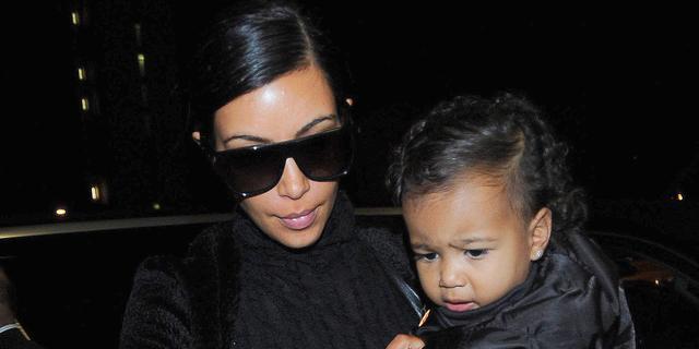 Dochter Kim Kardashian niet dol op Kerstman