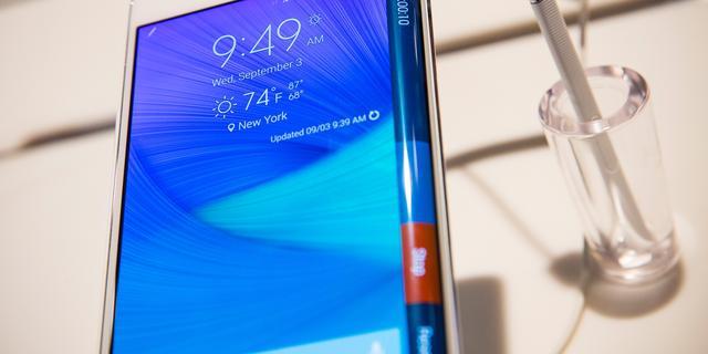 Samsung wil zich onderscheiden met gebogen smartphoneschermen
