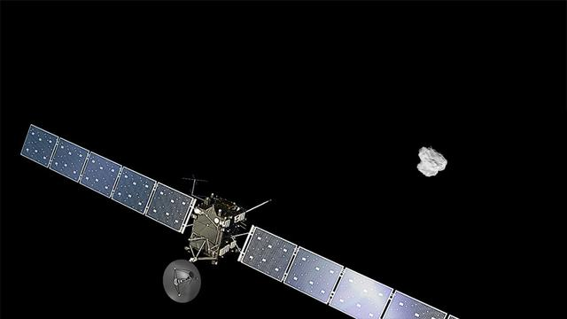 Ruimtesonde Rosetta ontdekt zuurstofmoleculen op komeet