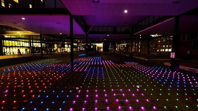 Eindhovense studievereniging claimt grootste Tetris-game ooit