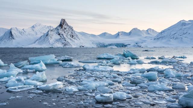 'Historisch laag ijsniveau op Noord- en Zuidpool'