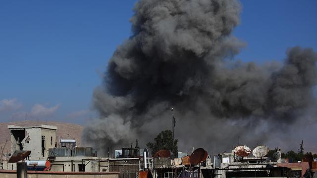 Gevechten Palestijns vluchtelingenkamp Damascus houden aan
