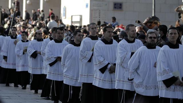 Christenen bijeen voor kerstviering in Bethlehem