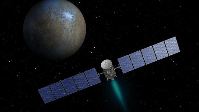 NASA-ruimtesonde nadert dwergplaneet met mysterieuze stippen