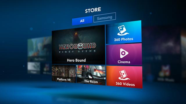 De Gear VR-appwinkel
