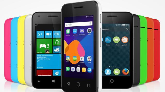 Alcatel-smartphone kan drie besturingssystemen aan