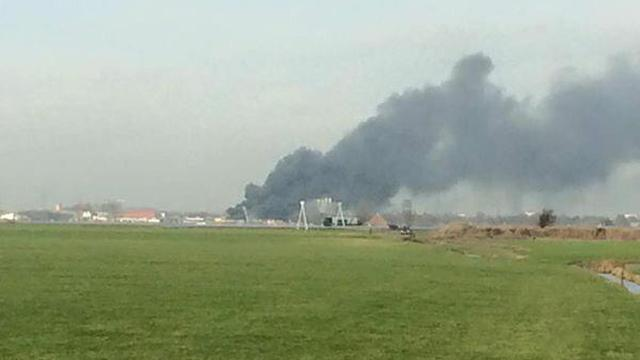 Grote brand in kringloopwinkel in Leeuwarden