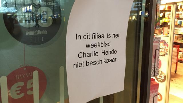 Charlie Hebdo donderdag nog niet te koop in Nederland