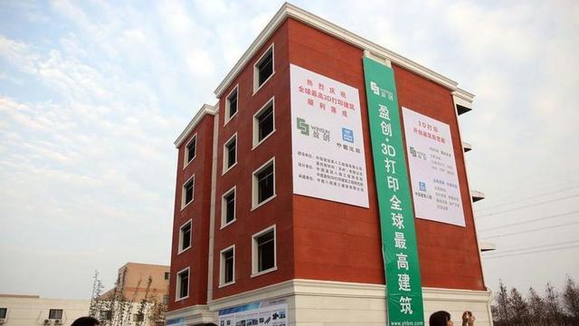 's Werelds eerste 3d-geprinte appartementencomplex gebouwd in China