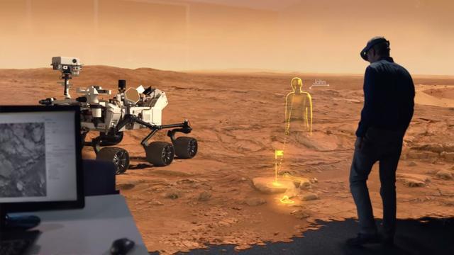 NASA werkt virtueel op Mars met holografische bril Microsoft