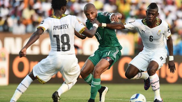 Ghana in blessuretijd langs Algerije op Afrika Cup