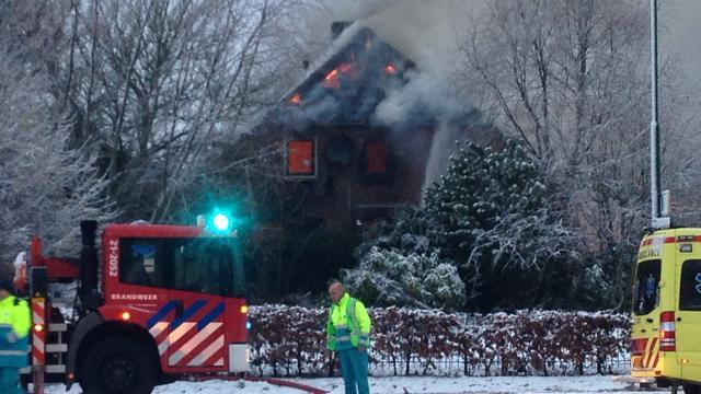 Doden bij woningbrand in Maren-Kessel