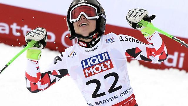 Fenninger wint Super-G op WK skiën, brons voor Vonn