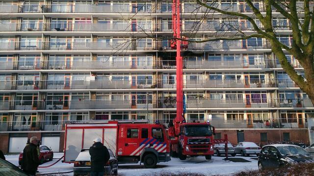 Uitslaande brand in flat in Vlaardingen