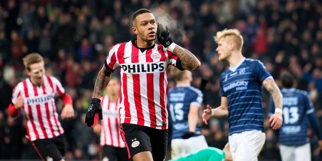 Topscorer Depay helpt PSV na rust langs FC Utrecht