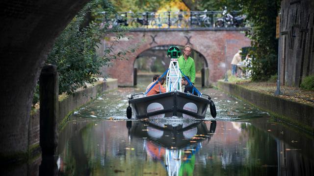 Utrechtse grachten te zien in Google Street View