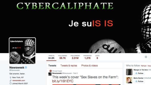 Twitter-account Newsweek kort overgenomen door hackers IS