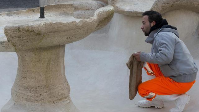 'Feyenoord-supporters hebben fontein Rome permanent beschadigd'