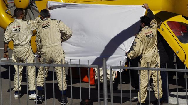 Alonso houdt geen kwetsuren over aan zware crash