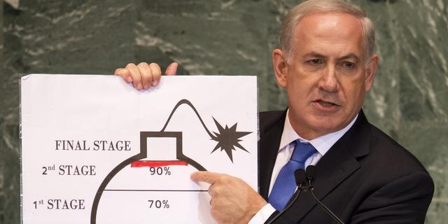 'Israëlische premier Benjamin Netanyahu misleidde VN over Iran'