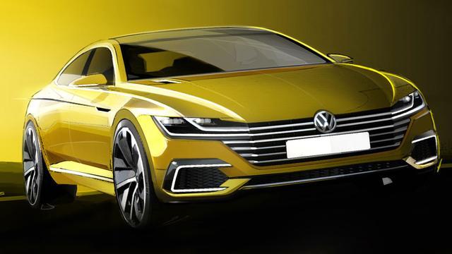 Volkswagen gaat concept voor een nieuw grote auto in Genève tonen