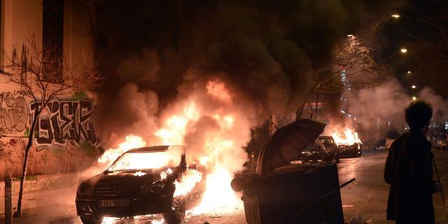 Rellen in Athene na protestmars tegen Griekse regering