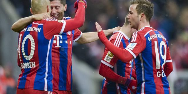 Robben met doelpunt opnieuw belangrijk voor Bayern München