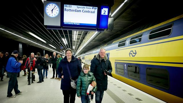 Negen op de tien treinen reden op tijd in 2015