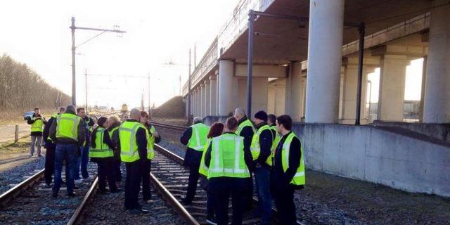 NS-personeel houdt actie op spoor na geweld Hoofddorp