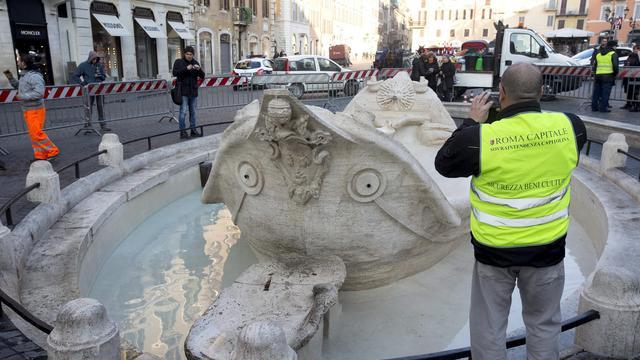 Nederlandse ambassade geeft geld voor herstel fontein in Rome