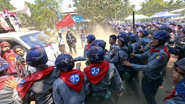 Myanmar gaat mogelijke mensenrechtenschendingen politie onderzoeken