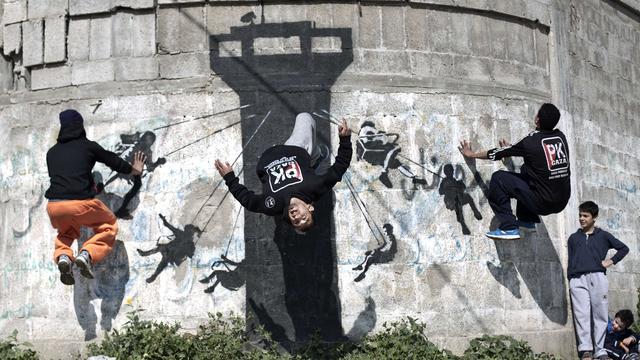 Politie Gaza neemt 'Banksy-deur' in beslag