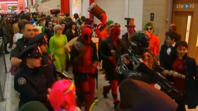 Duizenden bezoekers verkleed als stripheld