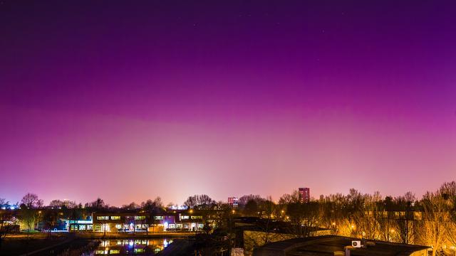 Noorderlicht te zien in Noord-Nederland
