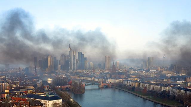 Gewelddadig protest in Frankfurt tegen Europese Centrale Bank