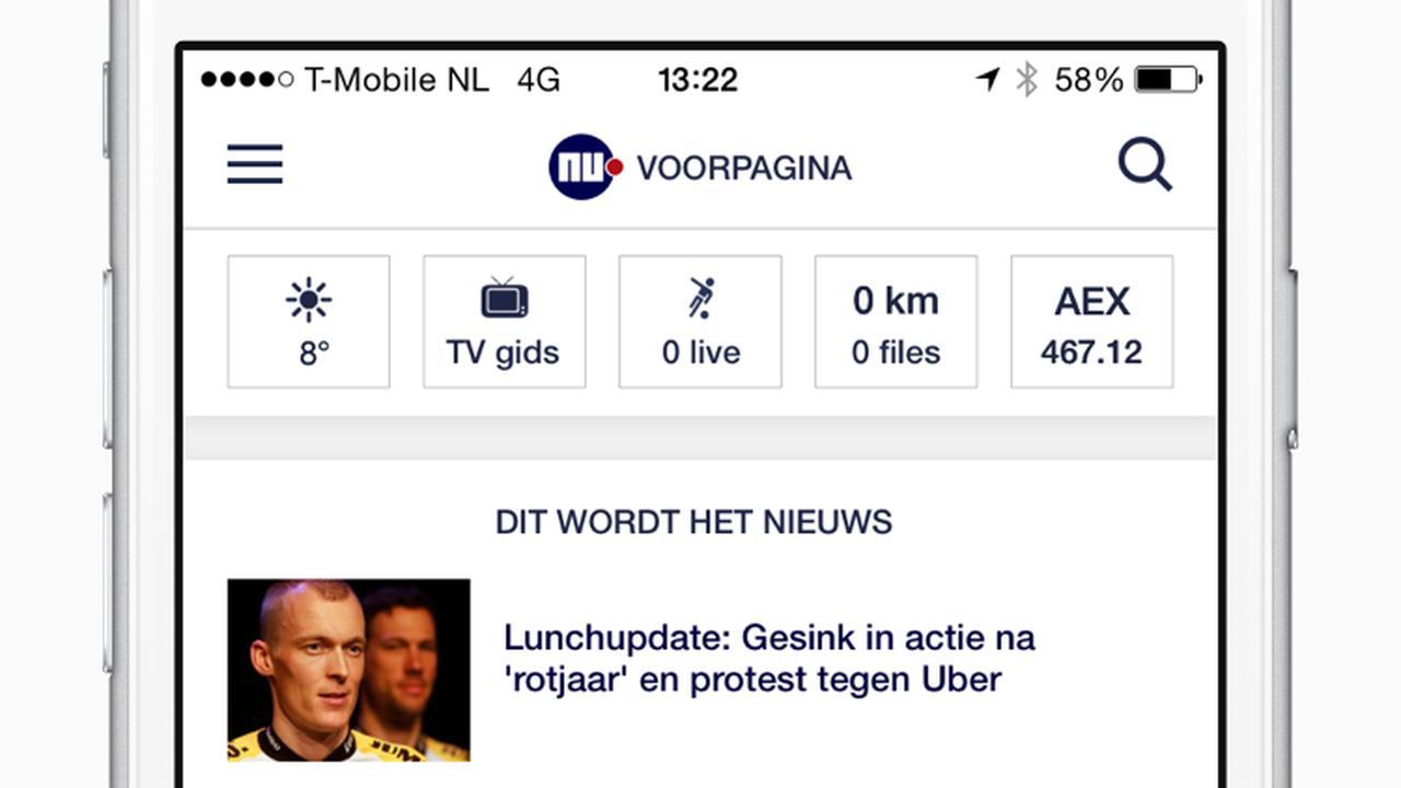 Preview nieuwe NU.nl-app