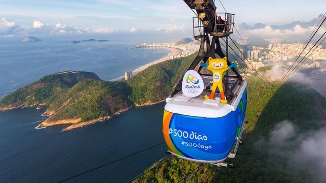 Olympische vlam geland in Brazilië