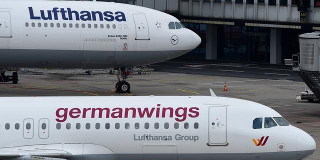 380 vluchten geschrapt vanwege staking Eurowings en Germanwings