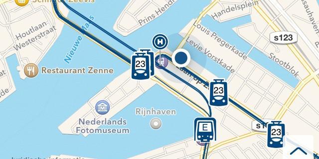 Nieuwe app vervoerder RET kan live bussen en trams volgen