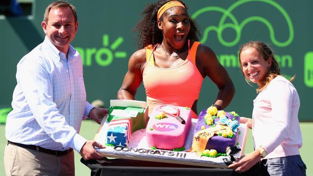 Serena Williams bereikt met 700e zege halve finales in Miami
