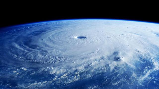 Verwoestende orkaan gezien vanuit de ruimte