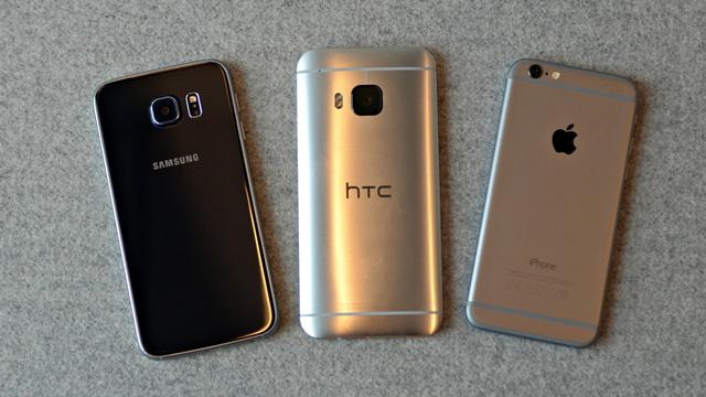 Vergelijking: Galaxy S6, HTC One M9 of iPhone 6?